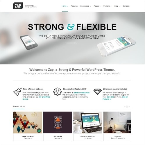 zap WordPress Business Theme