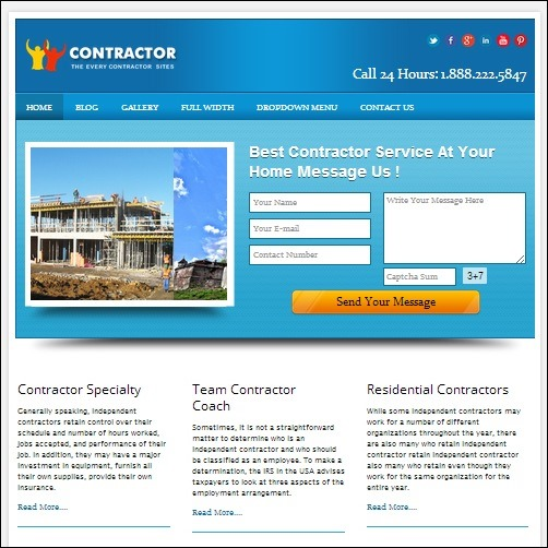 contractor2 WordPress Business Theme