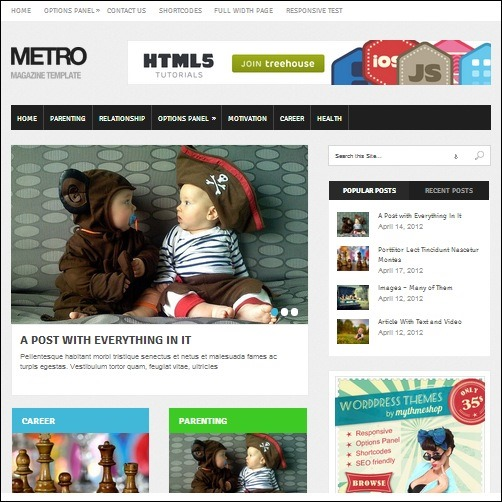 metro WordPress Business Theme