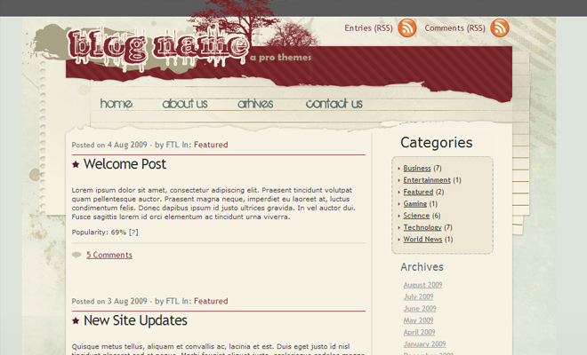 redautumn free WordPress Themes