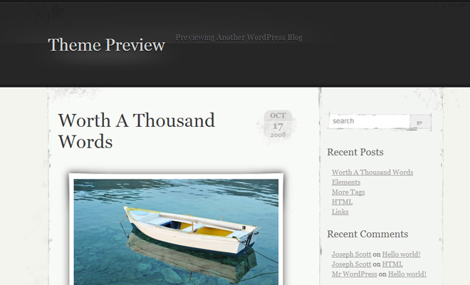 elegant grunge preview WordPress Theme