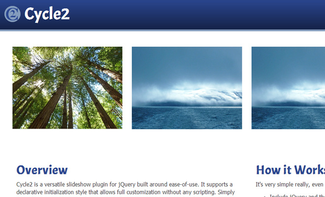 cycle2 plugin homepage open source jquery images gallery
