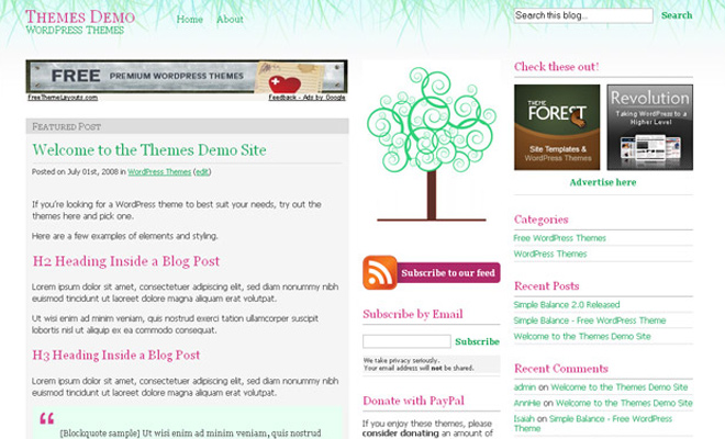 Artistic WordPress Themes
