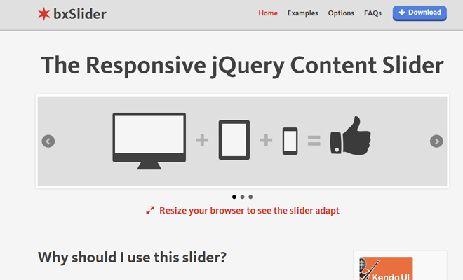 bxslider jquery open source plugin sliding images