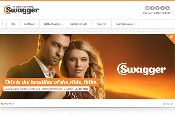 swagger premium wordpress theme template