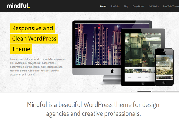 mindful theme wordpress premium responsive