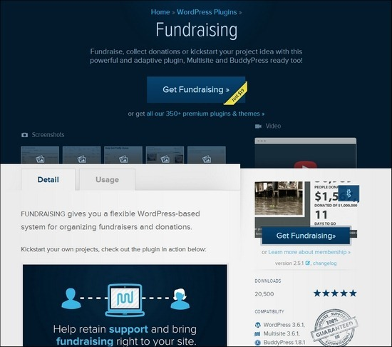 Fundraising gives you a flexible WordPress-based system for organizing fundraisers and donations.