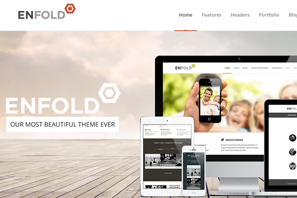 enfold design responsive homepage layout