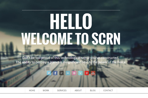 scrn wordpress premium theme design