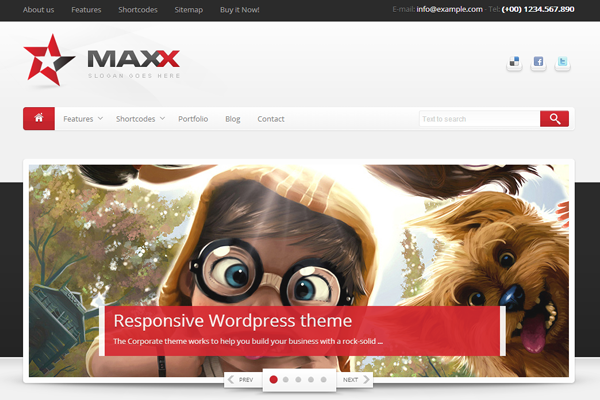 maxx wordpress responsive theme premium template