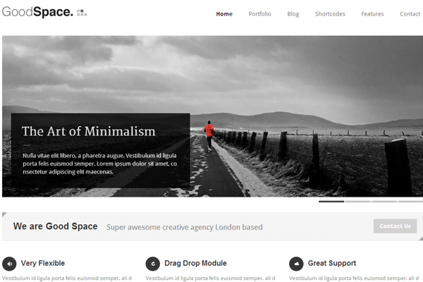 goodspace wordpress premium theme responsive