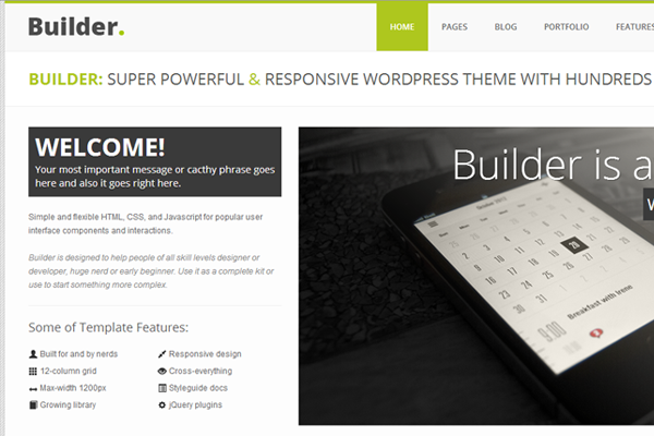 wordpress responsive builder theme design