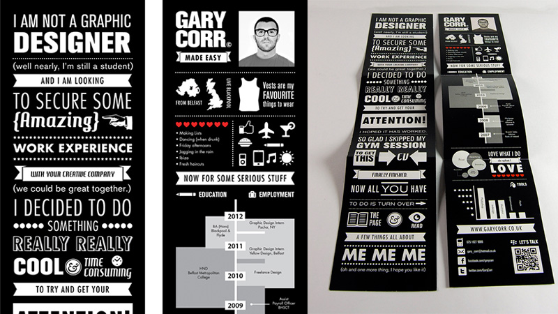 Infographic CV by Gary Corr