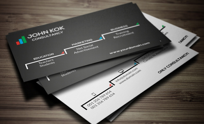 john kok consultancy print business card design