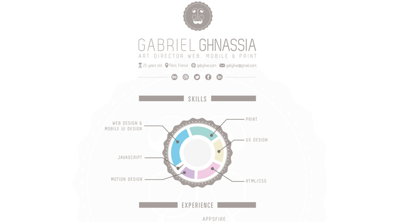 My Resume by Gabriel Ghnassia