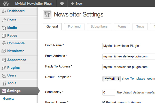 mymail newsletter plugin premium wordpress