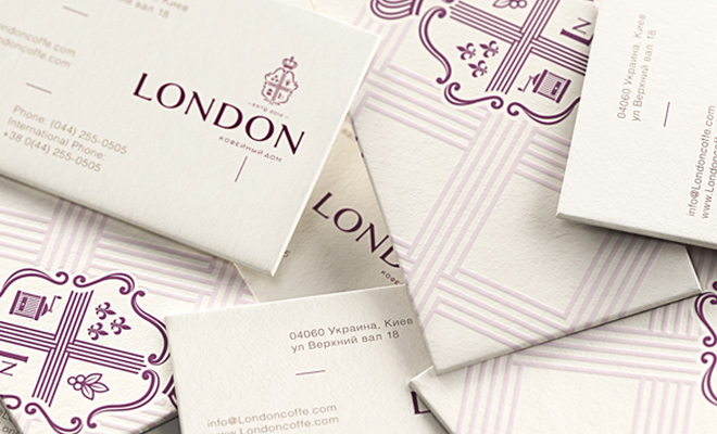 coffee house london print design business card