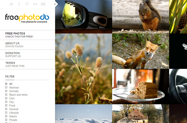 free photo db database search website