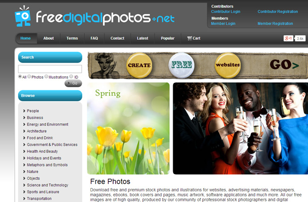 free digital photos website homepage search