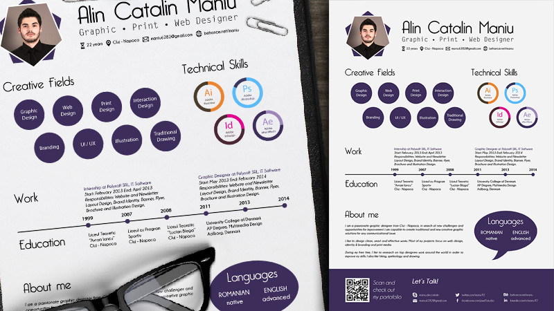 Curriculum Vitae Design by Alin Catalin Maniu