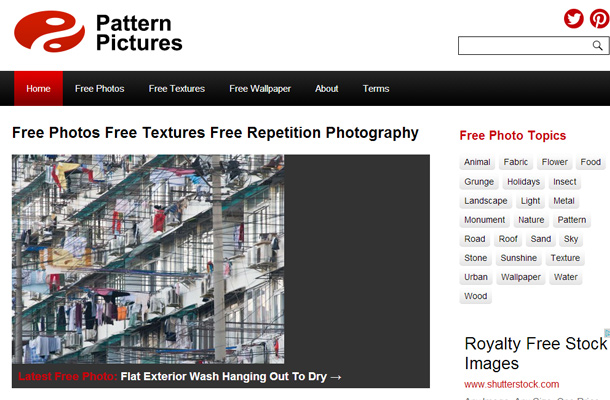 pattern pictures website homepage design free photography