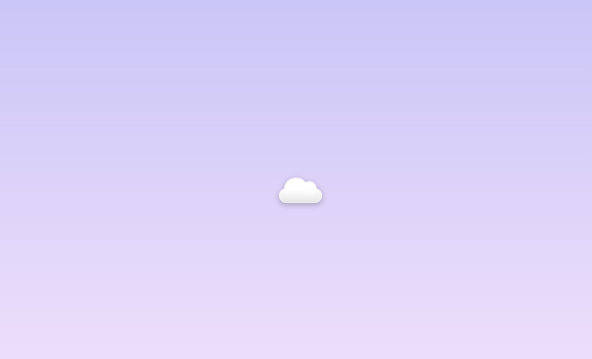 pure css cloud icon design