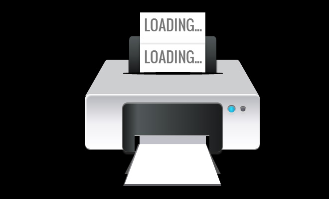 animated printer icon pure css open source