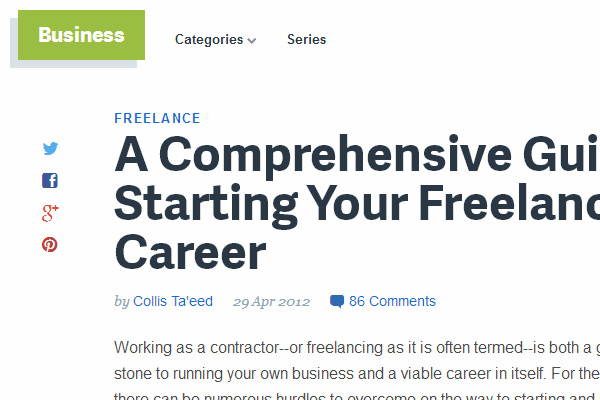starting your freelance career guide online tutorial