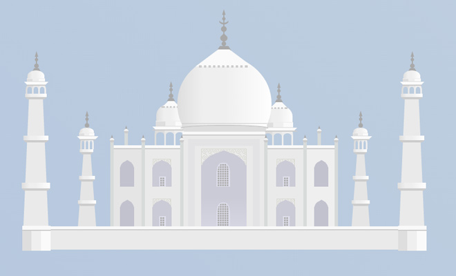 pure css open source taj mahal icon