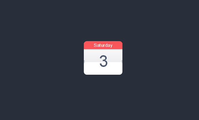 css3 calendar open source icon code