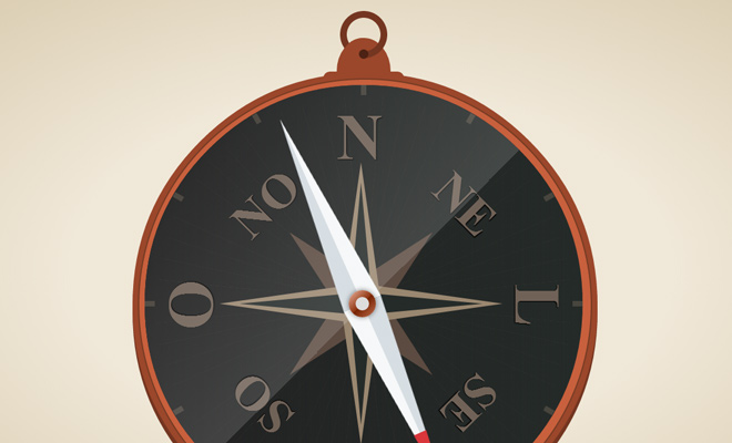 animated compass icon design css open source