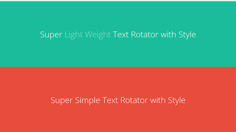 Simple Text Rotator