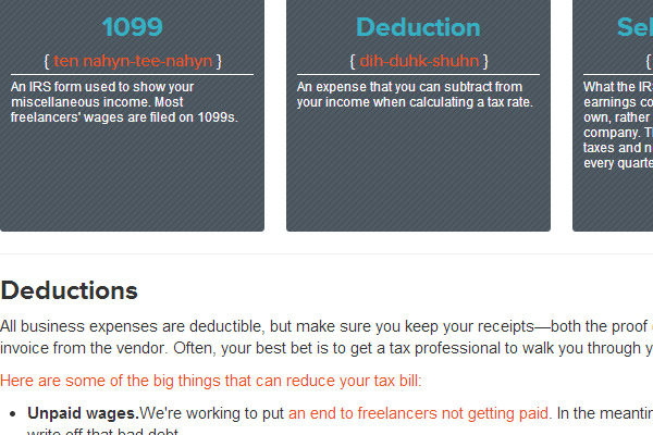 online website tax resources for freelance workers