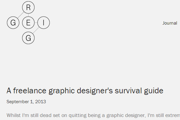 freelance graphic designers survival guide online