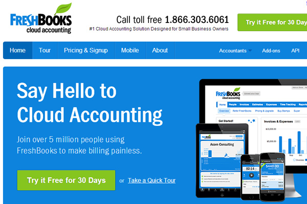 freshbooks online bookkeeping invoicing design