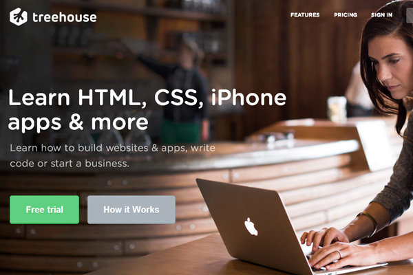 treehouse online learning website webapp resources