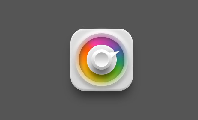 pure animated css color picker icon