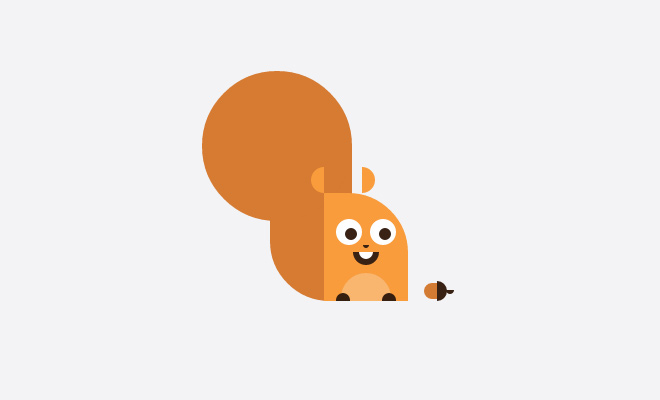 squirrel css pure open source icon animal