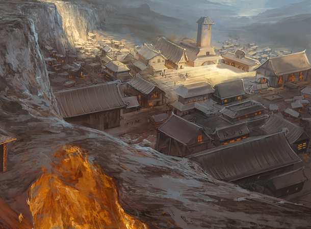 volcano village fire temple environment noah bradley
