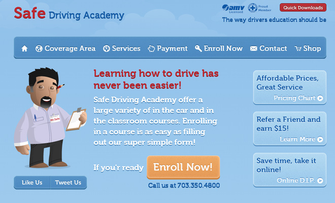 safe driving academy vector artwork website inspiration