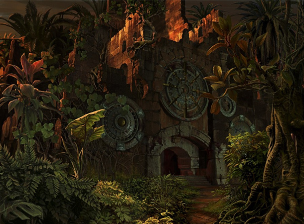 ruins jungle environment sergey skachkov