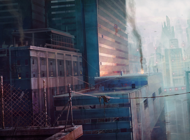 bad side of city skyscraper environment james wolf strehle