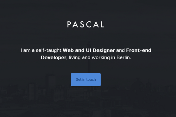 portfolio website layout pascal gartner