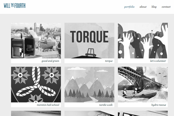 will william gilbert portfolio website layout