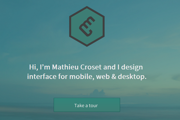 mathieu croset website portfolio designer