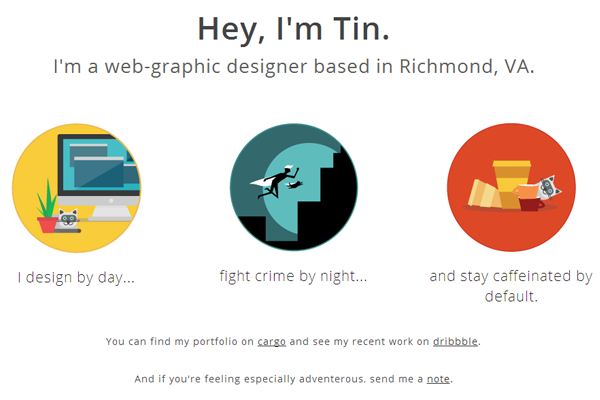 tin nguyen portfolio website layout