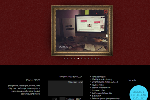 tomas hustoles website dark layout portfolio