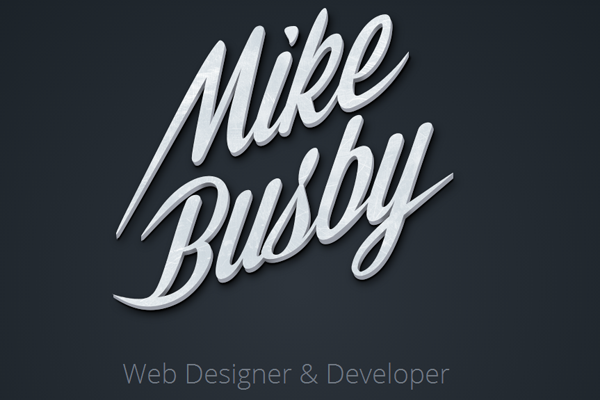 designer developer portfolio layout mike busby