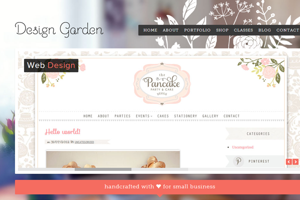 sabrina design garden portfolio website