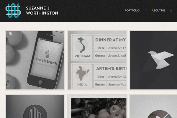 suzanne j worthington website portfolio